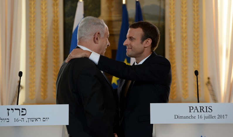 Varmt møte Netanyahu-Macron: Macron sidestiller anti-sionisme med anti-semittisme