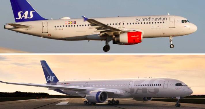 """SKIFTE: SAS har ikke skiftet design på 21 år. Mange mente den tdilgerer designen var for """"norsk"""" i fargevalg. Foto: SAS"""