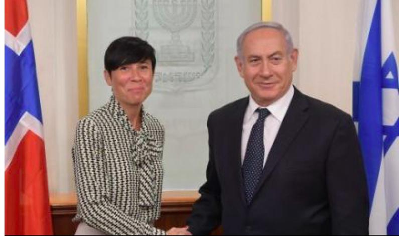 Israelsk avis: Netanyahu med skarp kritikk av Norge