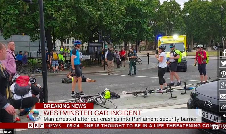 TERRORFORSØK VED PARLAMENTSBYGGET I LONDON